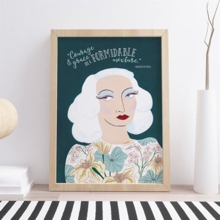 Marlene Dietrich Courage and Grace Art Print2